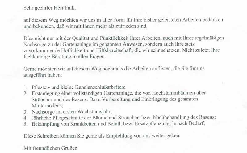 Referenzen Alfred Falk Galabau Gartenbau Gartenpflege